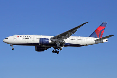 Delta Air Lines Boeing 777-232 LR N704DK (msn 29739) LAX (Michael B. Ing). Image: 911316.