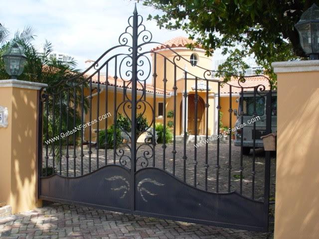 The Iron Gates Custom Design Driveway Iron Gate The Iron Gates Metal