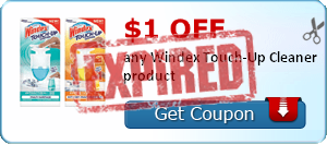 $1.00 off any Windex Touch-Up Cleaner product
