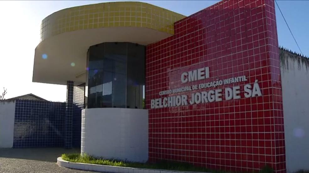 Centro de Educação Infantil alvo dos bandidos está localizado no bairro Nossa Senhora da Apresentação, em Natal. (Foto: Reprodução / Inter TV Cabugi)