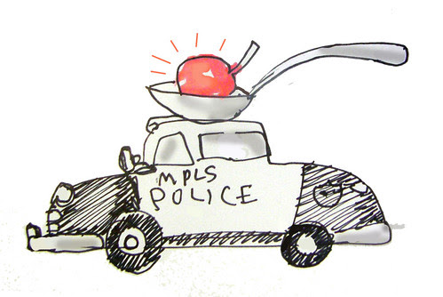 Cherry top: My rejected police car design for Mpls.