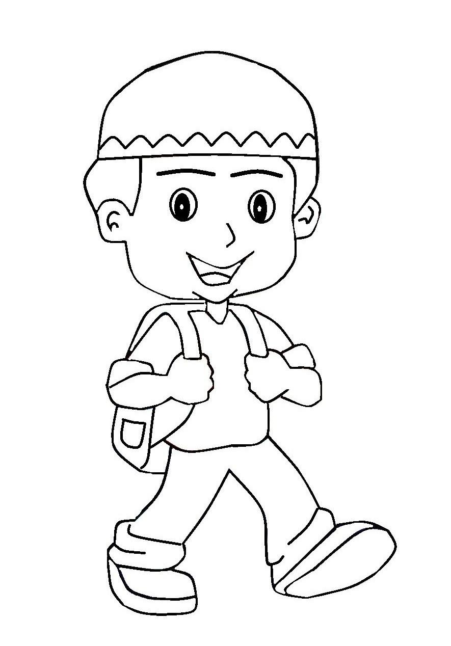 Gambar Kartun Anak Pergi Sekolah Top Gambar