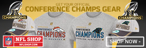 Shop for Panthers and Broncos Conference Champs fan gear at NFLShop.com