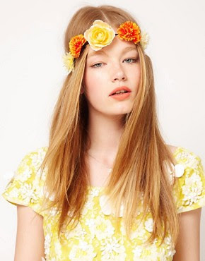 Image 1 of ASOS Carnation Flower Headband