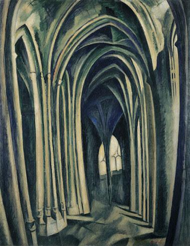 Saint-Séverin No. 3, 1909–10. Oil on canvas, Robert Delaunay