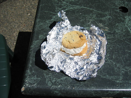 Ice cream sandwich at Multnomah Falls
