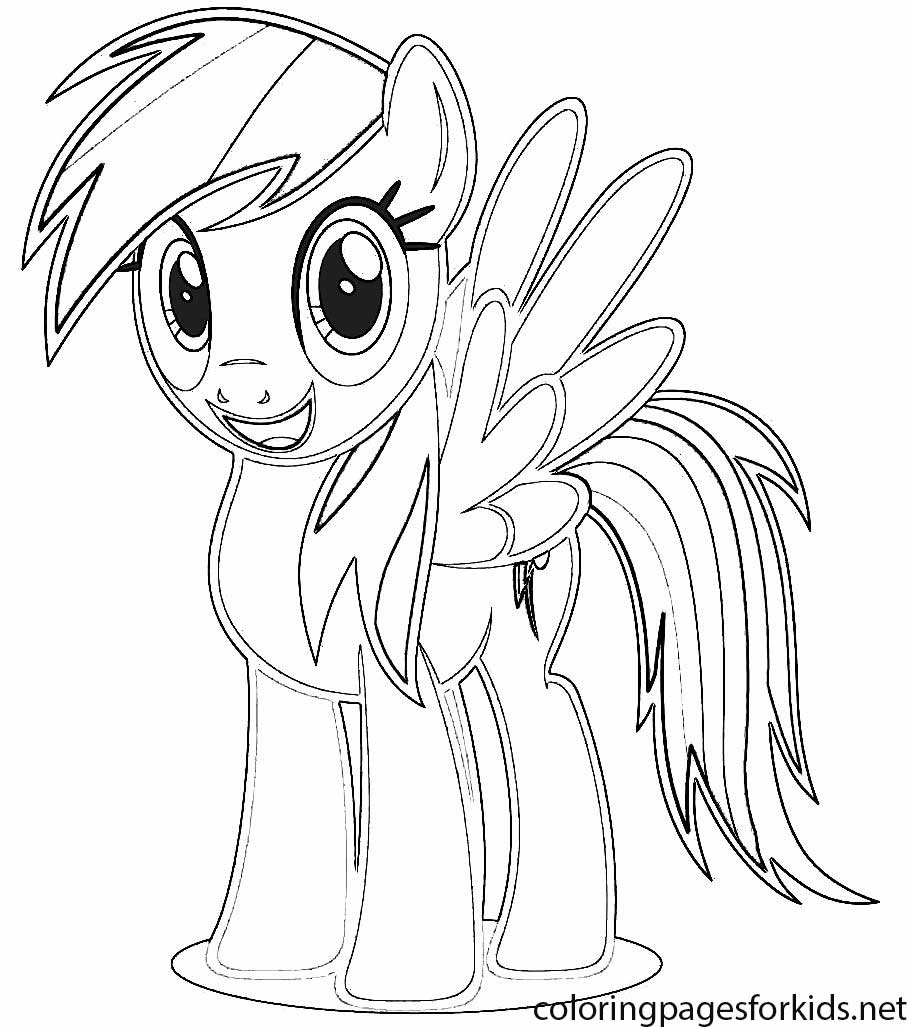 Coloring Pages Of My Little Pony Rainbow Dash Coloring And Drawing