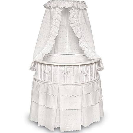 Round Baby Cribs - Review Badger Basket 00827 White ...