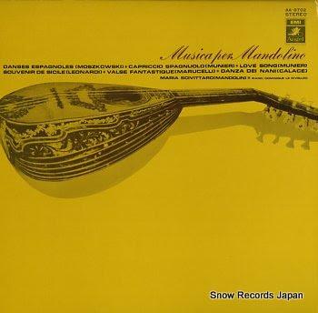 SCIVITTARO, MARIA musica per mandolino