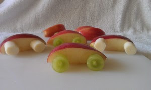 Affix your wheels to the toothpicks, and you've got an awesome kids' craft that they can eat!