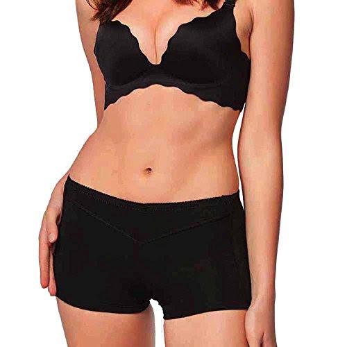 Chumian Butt Lifter Panty Booty Shaper Slim Enhancer Tummy Control Boy Shorts, Black, XXL (2-3 Days Delivery)