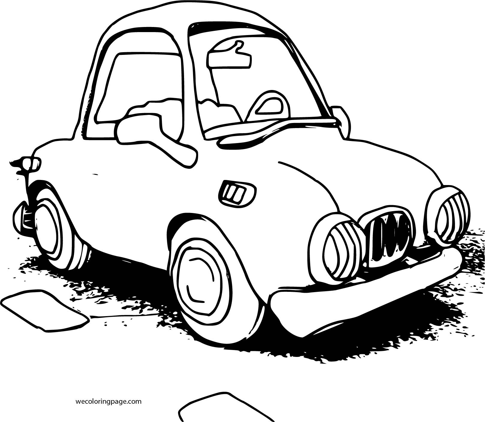 Cartoon Car Sedan Coloring Page | Wecoloringpage.com