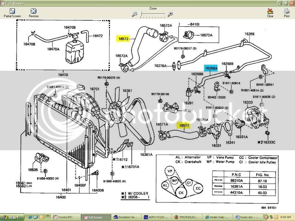 coolant hose/heater core line diagram?