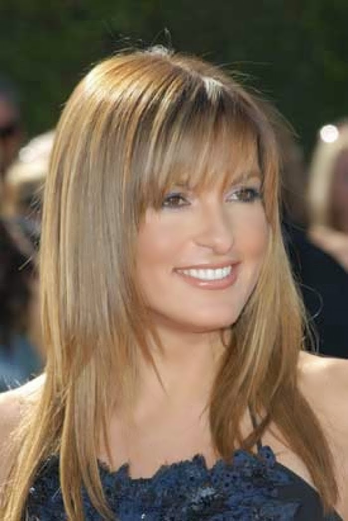 Effortless and Elegant Long  Layered Haircuts with Bangs