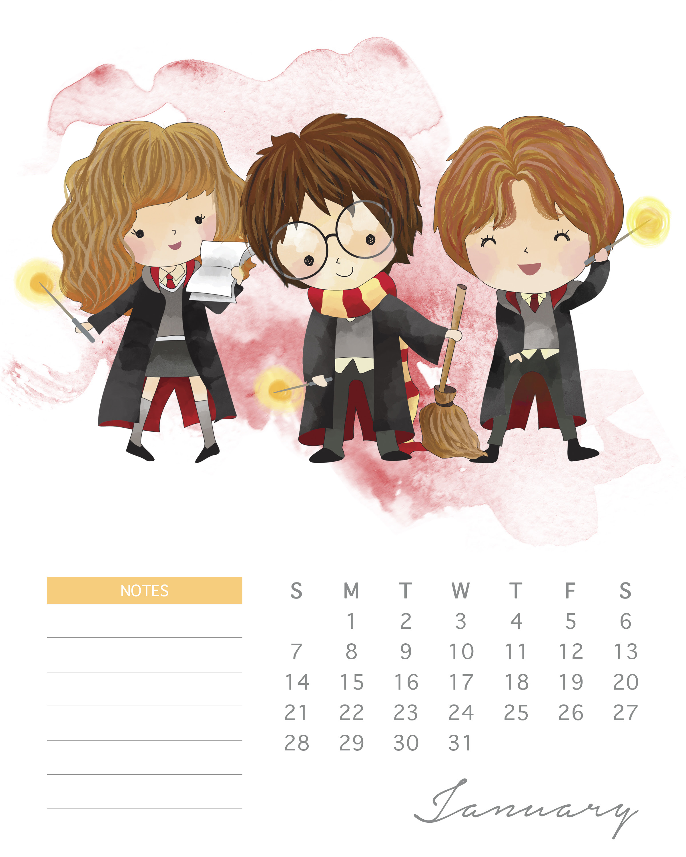 TCM 2018 AllNew HP Calendar 1 January