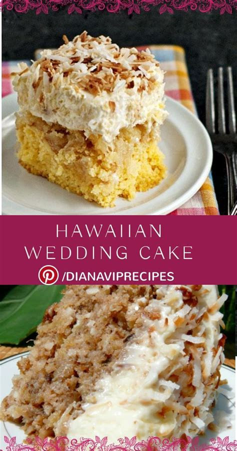 Hawaiian Wedding Cake with Whipped Cream Cream Cheese