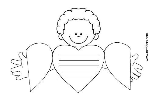 Anneler Günü Için Kalpli Sarılan Erkek çocuk şablonu Meb Ders