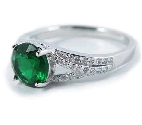 Perfect 1.50 Carat Green Cubic Zirconium Antique