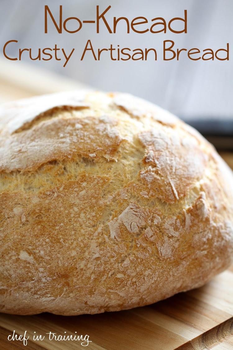 No-Knead Crusty Artisan Bread - Chef in Training