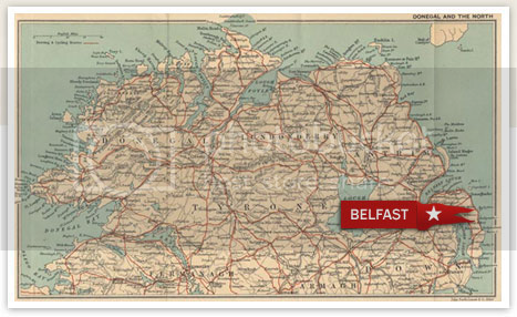 Old map of Belfast