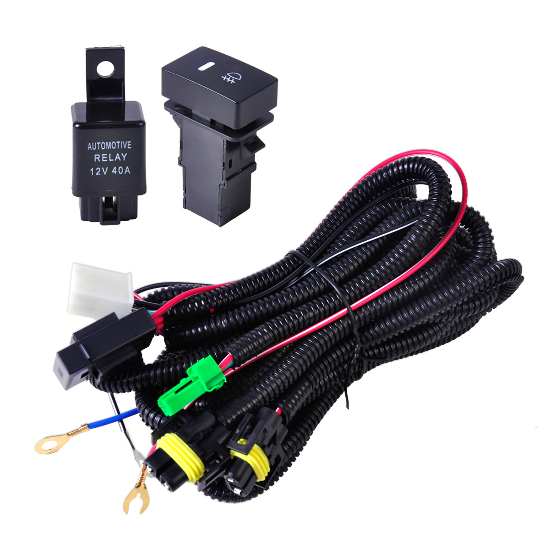 CITALL Wiring Harness Sockets + Switch + 2 H11 Fog Lights