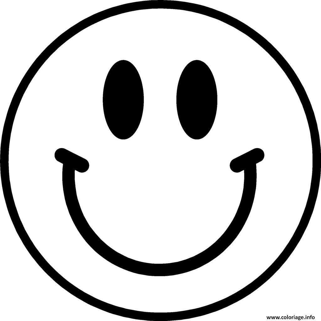 Coloriage Smiley Emoticone Original Jecoloriecom