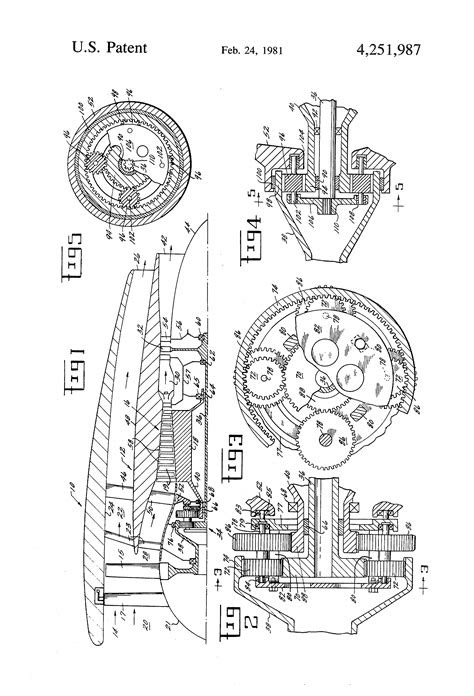 Patent US4251987 - Differential geared engine - Google Patents