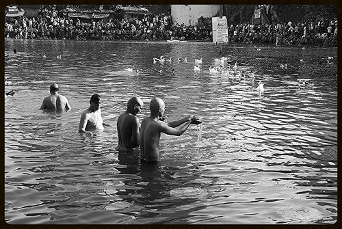 The Holistic Healing Waters Of The Banganga ,, For The Dead And The Living by firoze shakir photographerno1