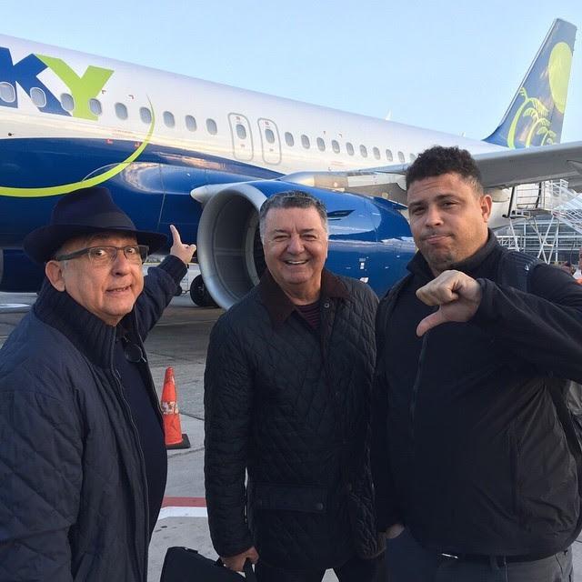 Galvão, Ronaldo e Arnaldo no Chile
