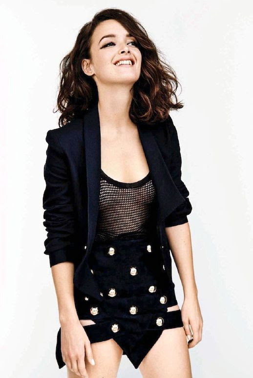 Le Fashion Blog Charlotte Le Bon Be Magazine Wavy Bob Cropped Tux Blazer Jacket Studded Anthony Vaccarello Skirt photo Le-Fashion-Blog-Charlotte-Le-Bon-Be-Magazine-Wavy-Bob-Cropped-Blazer-Studded-Anthony-Vaccarello-Skirt.jpg