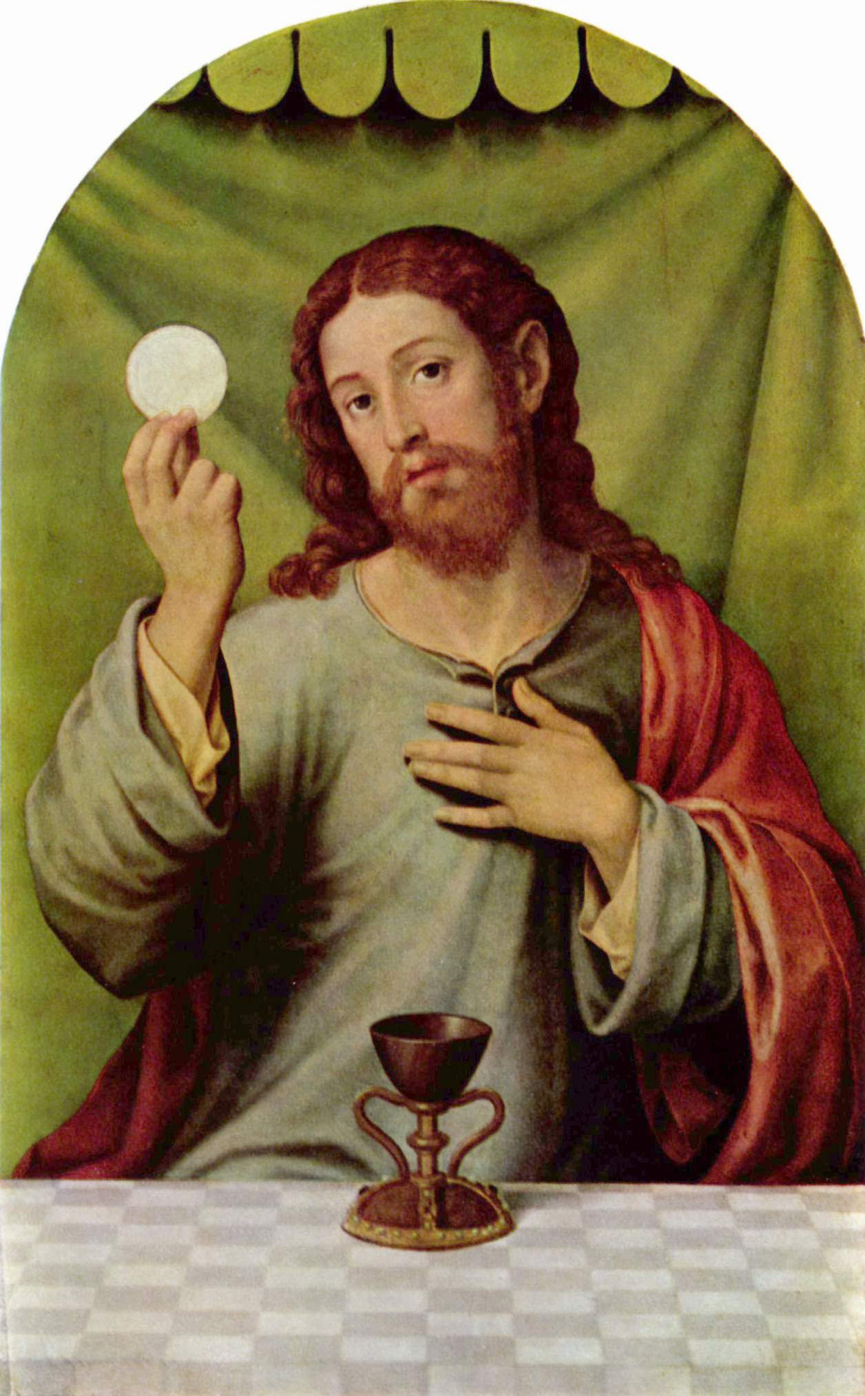 Christ with the Eucharist, Vicente Juan Masip