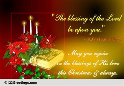 Christmas Religious Blessings Cards, Free Christmas
