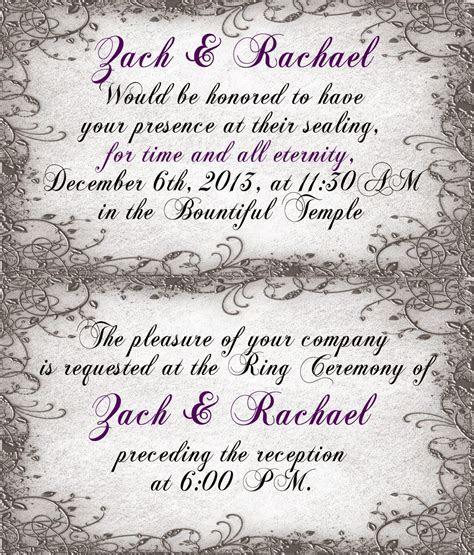 Wedding Announcement Ceremony Cards, LDS Temple Ceremony