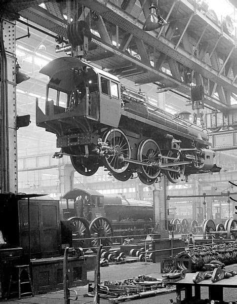 A Class 4 locomotive suspended from the ceiling in