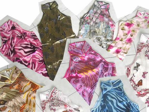 link to mazzario cheongsam singapore silk chiffon mini