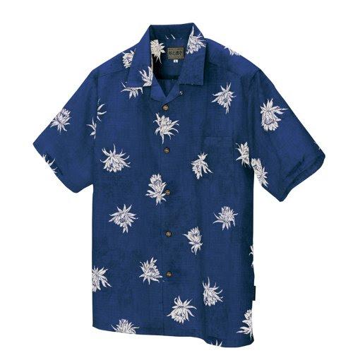 AITOZ(アイトス)   かりゆしシャツ(月下美人)【沖縄産かりゆしウェア】 #AZ-56107
