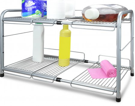 Surpahs Under Sink 2-Tier Expandable Cabinet Organizer ...