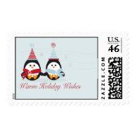 Christmas Penguins Postage