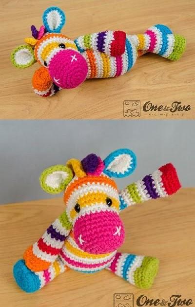 My Hobby Is Crochet Rainbow Zebra Amigurumi Pattern By