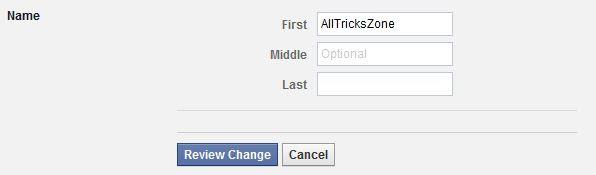 Facebook Hide Last Name