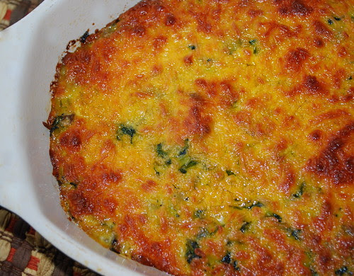 Spinach Rice Casserole in pan