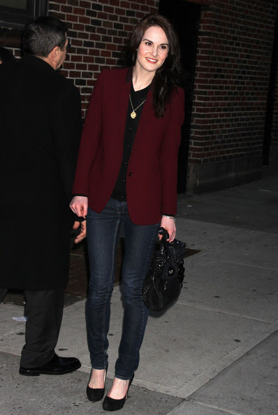 "Michelle Dockery - Celebs At The ""Late Show With David Letterman"""