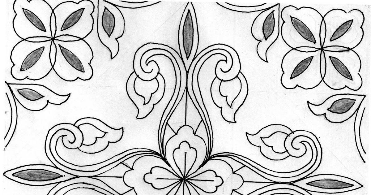 Sketsa Batik Simple Dan Mudah