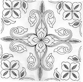 Sketsa Desain Batik Simple
