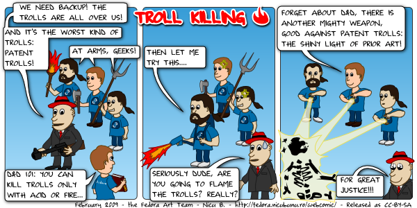 [fedora webcomic: troll killing]