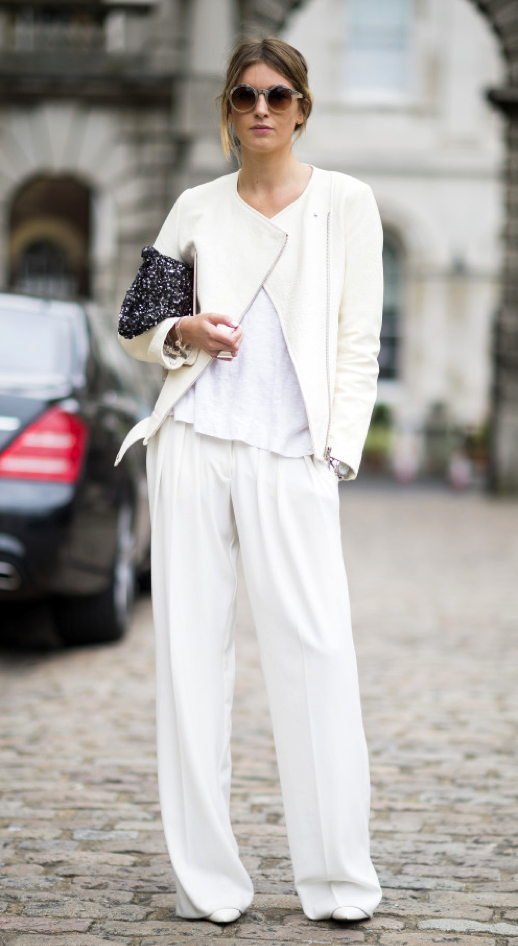 LE FASHION BLOG STREET STYLE ALL WHITE LOOK CAMILLE OVER THE RAINBOW BLOG Camille Charriere VIA 21EME Adam Katz Sinding