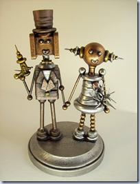 Robot Secret Agent Bride and Groom.