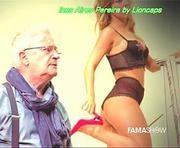Ines Aires Pereira super sensual em lingerie nos ensaios numa peça de teatro