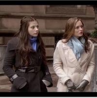 Leighton Meester as Blair Waldorf wearing Eryn Brinie