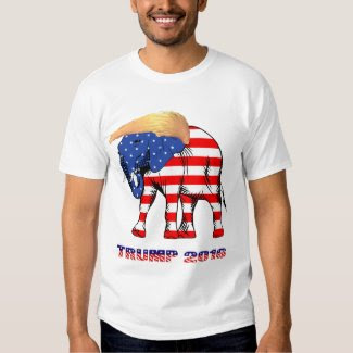 Trump Bad Hair Elephant 2016 Men's Basic T-Shirt